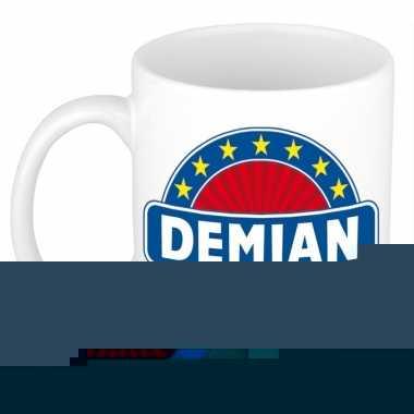 Feest namen koffiemok theebeker demian 300 ml