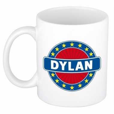 Feest namen koffiemok theebeker dylan 300 ml