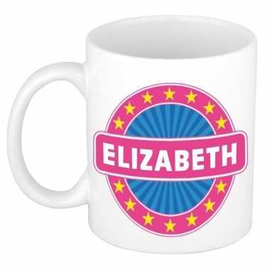 Feest namen koffiemok theebeker elizabeth 300 ml