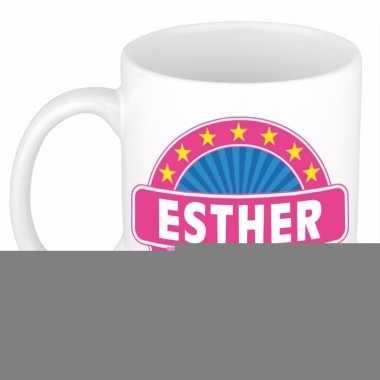 Feest namen koffiemok theebeker esther 300 ml