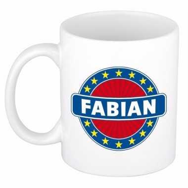 Feest namen koffiemok theebeker fabian 300 ml