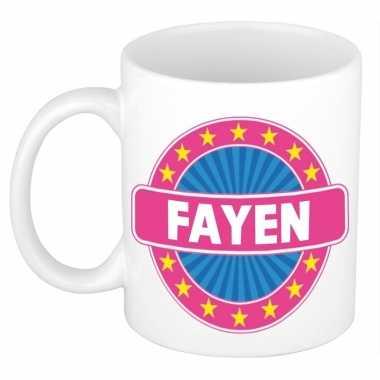 Feest namen koffiemok theebeker fayen 300 ml