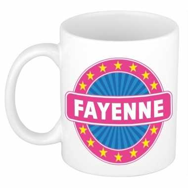 Feest namen koffiemok theebeker fayenne 300 ml