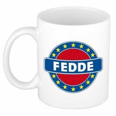 Feest namen koffiemok theebeker fedde 300 ml