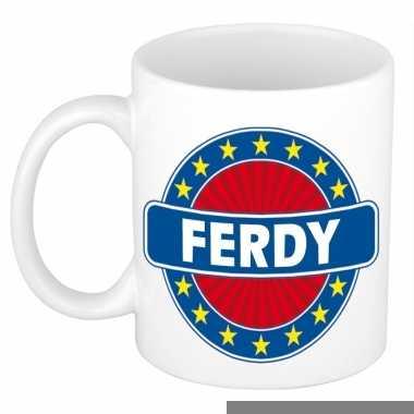 Feest namen koffiemok theebeker ferdy 300 ml