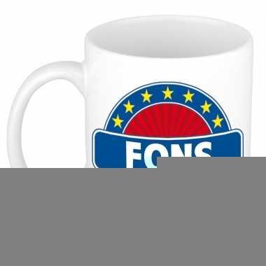 Feest namen koffiemok theebeker fons 300 ml