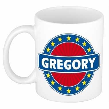 Feest namen koffiemok theebeker gregory 300 ml