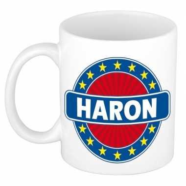 Feest namen koffiemok theebeker haron 300 ml