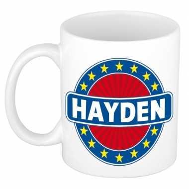 Feest namen koffiemok theebeker hayden 300 ml