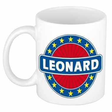 Feest namen koffiemok theebeker leonard 300 ml