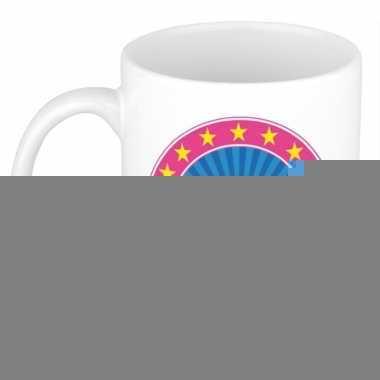 Feest namen koffiemok theebeker madelief 300 ml