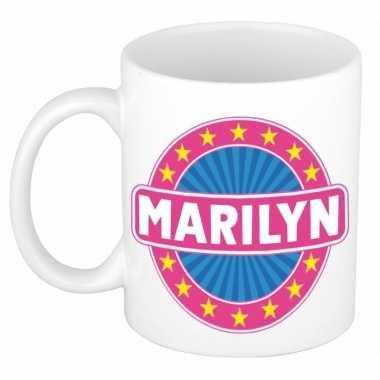 Feest namen koffiemok theebeker marilyn 300 ml