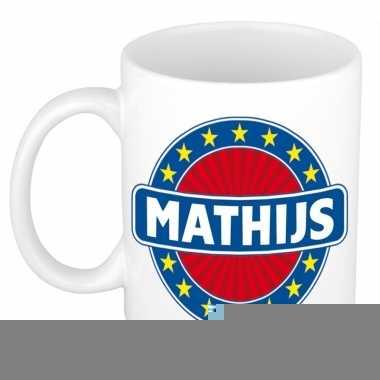 Feest namen koffiemok theebeker mathijs 300 ml