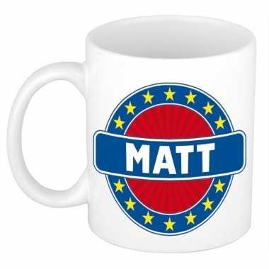 Feest namen koffiemok theebeker matt 300 ml