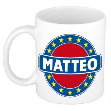 Feest namen koffiemok theebeker matteo 300 ml