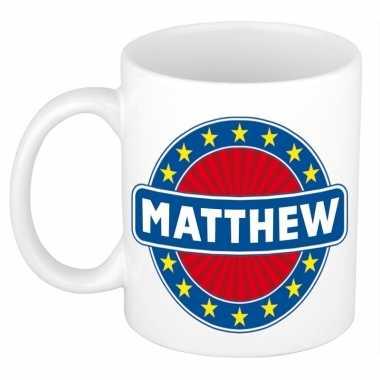 Feest namen koffiemok theebeker matthew 300 ml