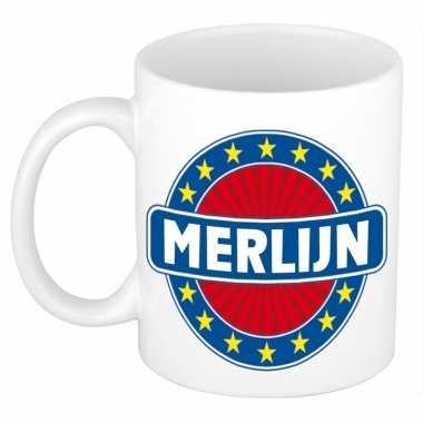Feest namen koffiemok theebeker merlijn 300 ml