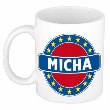 Feest namen koffiemok theebeker micha 300 ml
