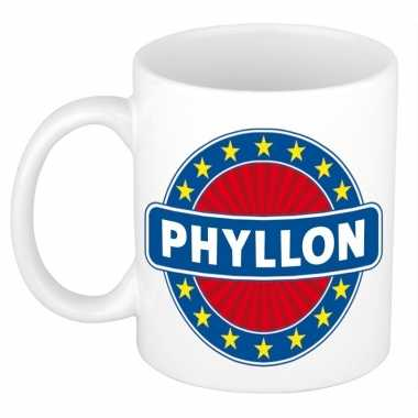 Feest namen koffiemok theebeker phyllon 300 ml