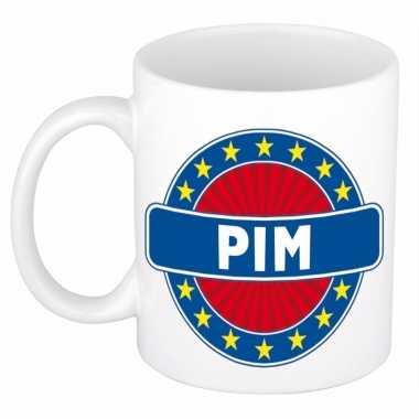Feest namen koffiemok theebeker pim 300 ml