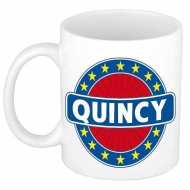 Feest namen koffiemok theebeker quincy 300 ml