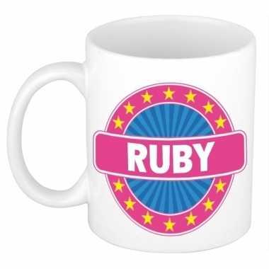 Feest namen koffiemok theebeker ruby 300 ml 10110727