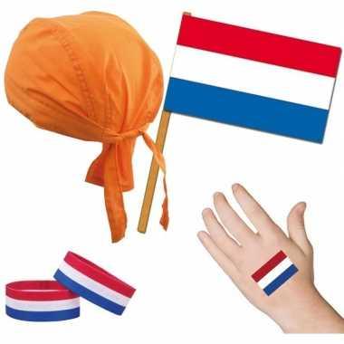 Feest nederland holland thema verkleed set voor volwassenen