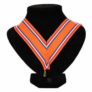 Feest nederlands kampioen medaille halslint oranje rood wit blauw