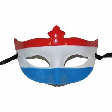 Feest nederlandse vlag oogmasker