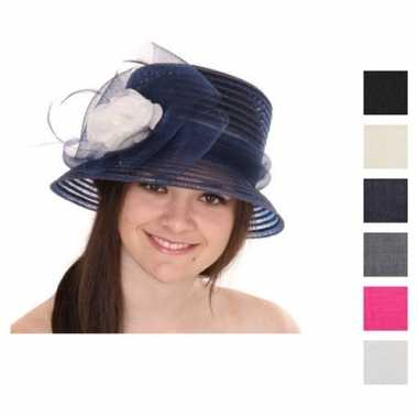 Feest nette hoed met contrast bloem
