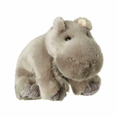 Feest nijlpaard knuffeltjes met kraalogen 12 cm