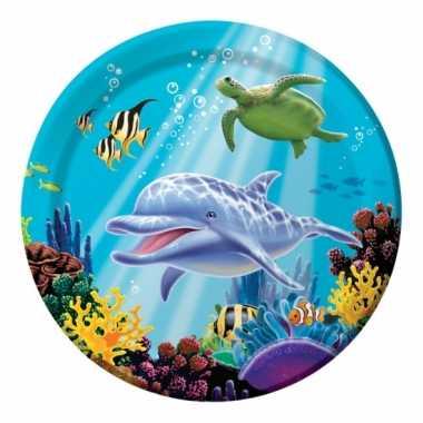 Feest oceaan thema bordjes 8 stuks