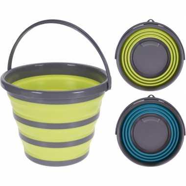 Opvouwbare emmer geel/grijs 10 liter