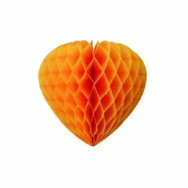 Feest oranje hartjes decoratie