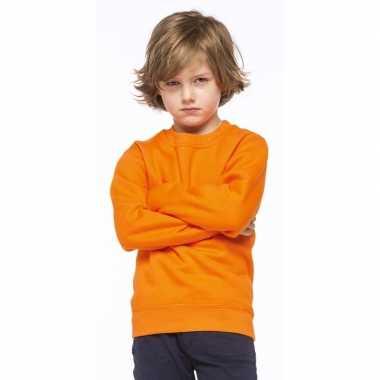 Gouden Glitter Trui.Oranje Katoenmix Sweater Voor Kinderen Feestwinkel Online Nl