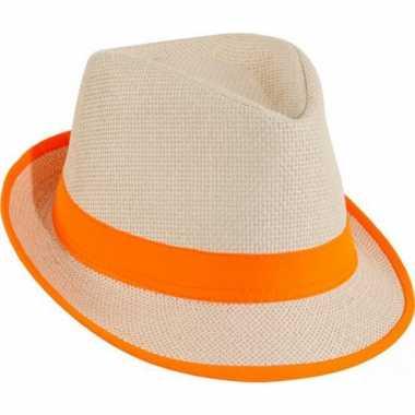 Feest oranje strand hoedjes
