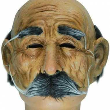 Feest oude man masker met snor