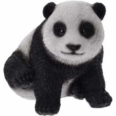 Feest panda beeldje 14 cm type 1