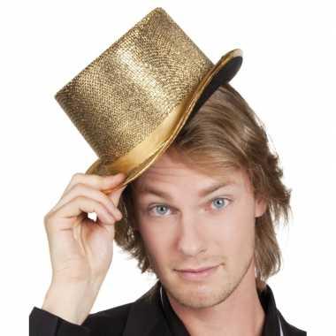 Feest party hoed hoog met gouden glinsters
