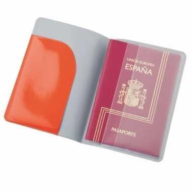 Feest paspoort houder rood 13 cm
