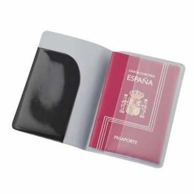 Feest paspoort houder zwart 13 cm
