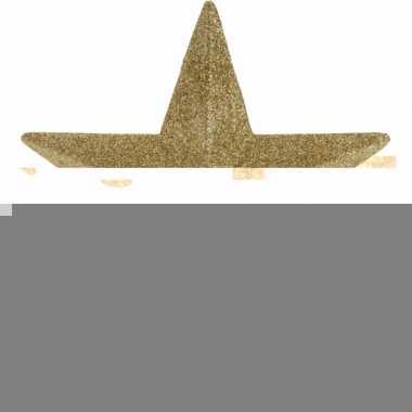 Piek stervorm goud met glitters