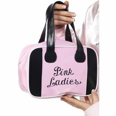Feest pink ladies handtas van grease