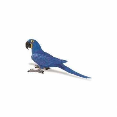 Plastic blauwe papegaai 11 cm