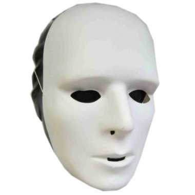 Feest plastic grimeer masker