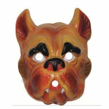 Feest plastic hond masker voor volwassenen