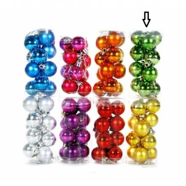 Feest plastic mini kerstballen kobalt 12 stuks 3 cm
