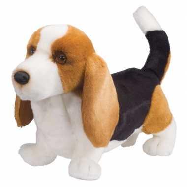 Feest pluche basset hond knuffel 41 cm