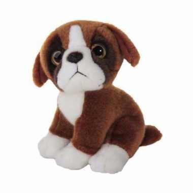 Feest pluche boxer pup 18 cm