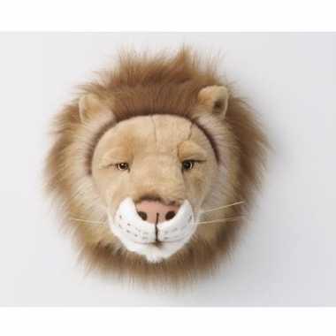 Feest pluche dierenkop leeuw